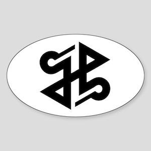 satanic [002] Sticker (Oval)